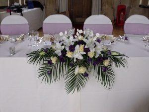 Wedding Flowers for the top table e1511382634815 300x225 - Настольные композициии (свадебные)