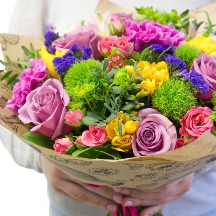 Необычный букет цветов на день рождения