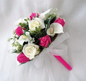 special order for claire artificial wedding flowers 1327 p e1511382230600 300x284 - Свадебные букеты